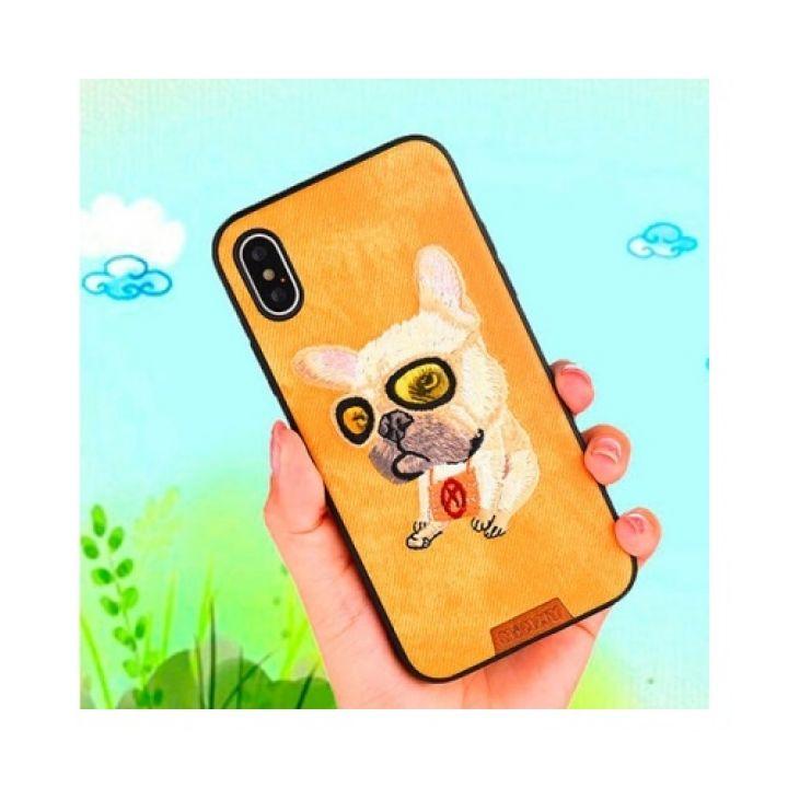 Яркий чехол бампер Doggy для iPhone X