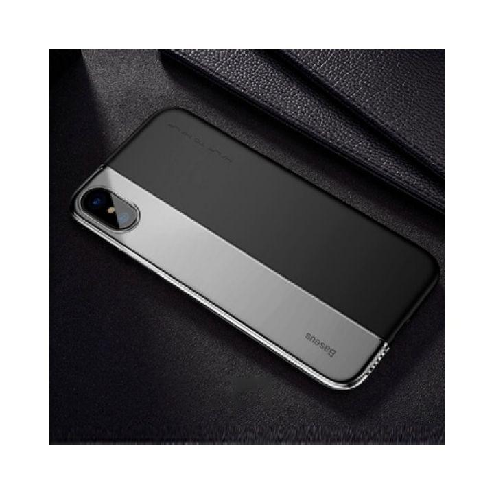 Интересный чехол Half case черный для iPhone X