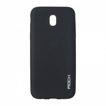 Плотный силиконовый чехол Matte от Rock для Samsung J700 (J7) черный
