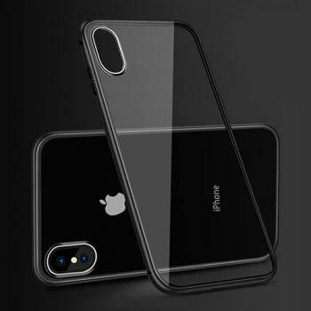 Металлический черный чехол бампер на магните Strong для iPhone X
