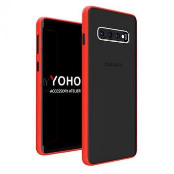 Защитный матовый чехол Yoho для Samsung Galaxy S10 red