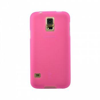 Оригинальная силиконовая накладка для Samsung J700 (J7) розовый