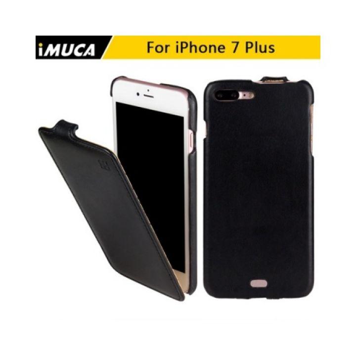 Черный кожаный чехол флип Luxury Case для iPhone 7 Plus