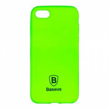 Яркий силиконовый чехол Colorit от Baseus для iPhone 4 зеленый