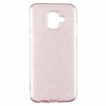 Чехол с блесками Glitter Silicon от Remax для Samsung J810 (J8-2018) розовый