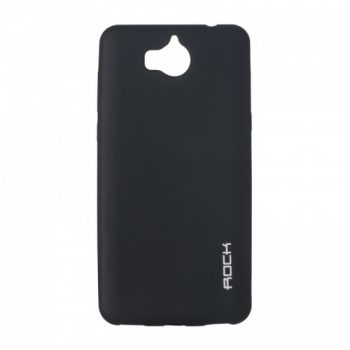 Плотный силиконовый чехол Matte от Rock для Huawei P Smart Plus/Nova 3i черный