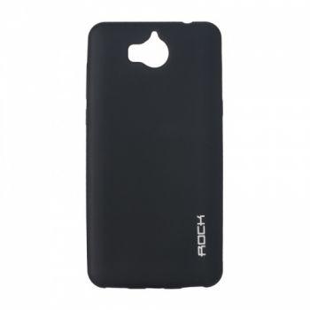 Плотный силиконовый чехол Matte от Rock для Huawei P8 Lite черный