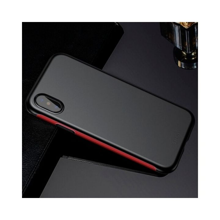 Противоударный чехол накладка Panzer Red для iPhone X