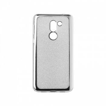 Чехол с блесками Glitter Silicon от Remax для Huawei P20 Lite серебро