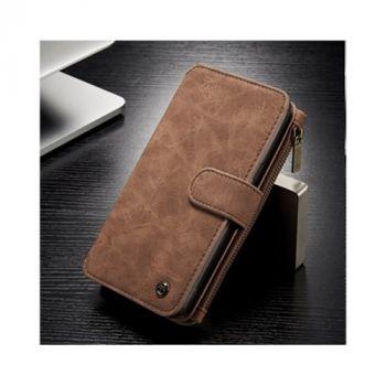 Функциональный чехол бумажник Luxury Business для Samsung Galaxy S8 brown