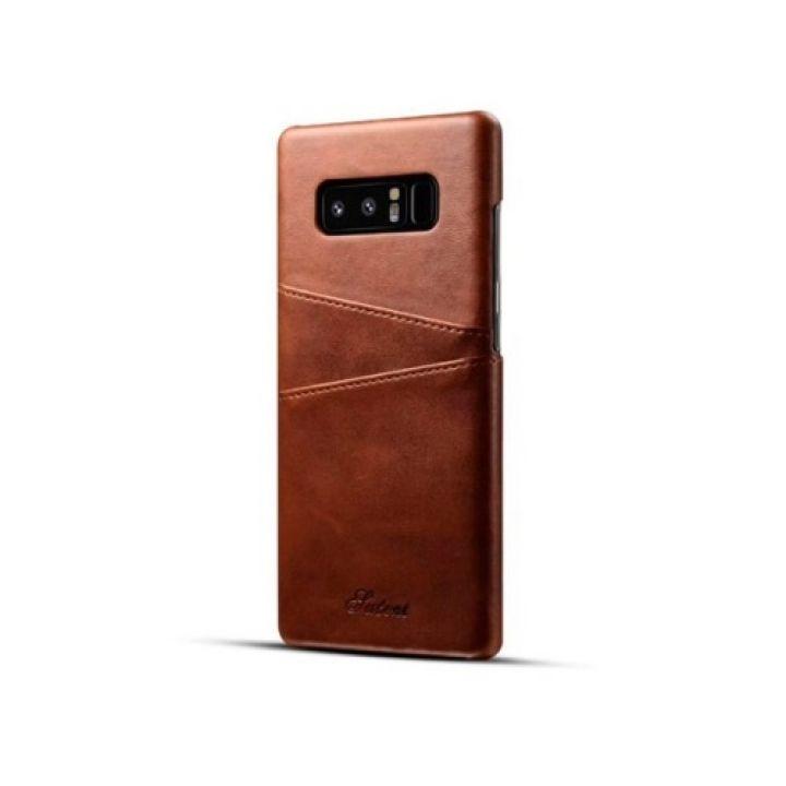 Коричневый чехол пенал Luxor для Samsung Galaxy Note 8