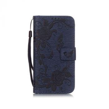 Роскошный кожаный чехол книжка Lovely для Samsung Galaxy S7 blue