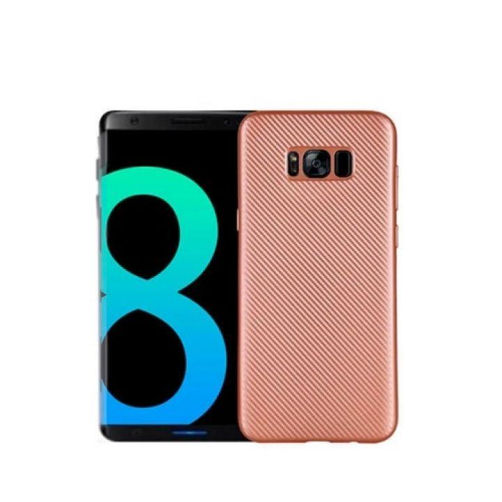 Красивый чехол накладка розового цвета Carbon Rose для Samsung Galaxy S8