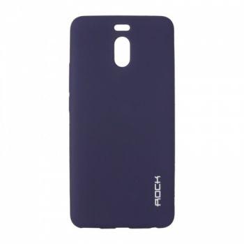 Плотный силиконовый чехол Matte от Rock для Meizu M6 Note синий