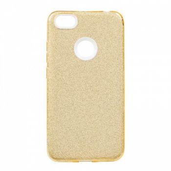 Чехол с блесками Glitter Silicon от Remax для Huawei P Smart Plus/Nova 3i золото