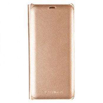 Оригинальная кожаная книжка для Samsung J810 (J8-2018) золотой