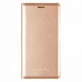 Оригинальная кожаная книжка для Samsung J510 (J5-2016) золотой
