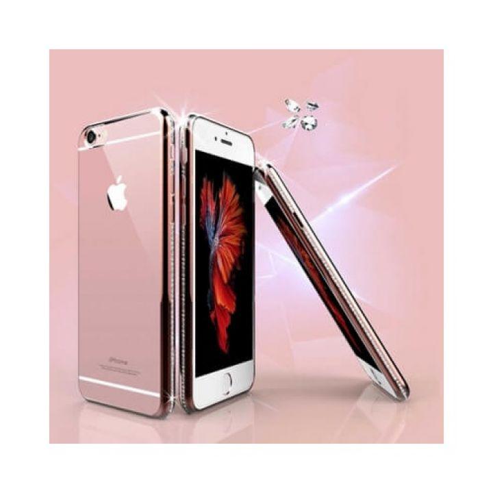 Роскошный чехол-пенал Pure Diamonds для iPhone 6/6S rose