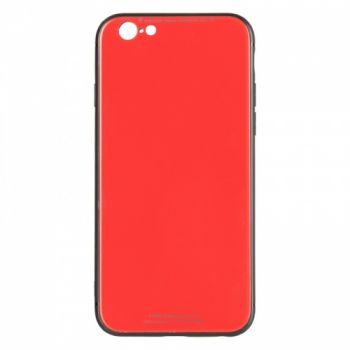 Чехол накладка со стеклом iPaky Glass для Huawei Y7 Prime красный