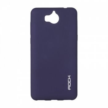 Плотный силиконовый чехол Matte от Rock для Huawei Y5 II синий