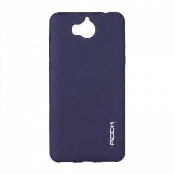 Плотный силиконовый чехол Matte от Rock для Huawei Y6 II синий