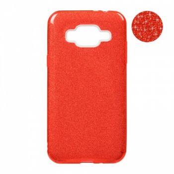 Чехол с блесками Glitter Silicon от Remax для Samsung J700 (J7) красный