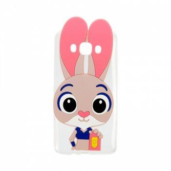Силиконовый чехол Зверополис Кролик для Samsung I9500 (S4)
