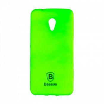 Яркий силиконовый чехол Colorit от Baseus для Meizu M5 зеленый