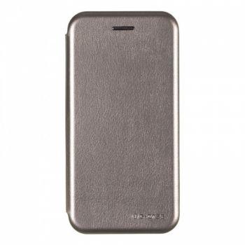 Кожаный чехол флип Luxor для iPhone 6 серый