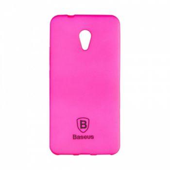 Яркий силиконовый чехол Colorit от Baseus для Meizu M5 розовый