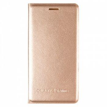 Оригинальная кожаная книжка для Samsung J5 Prime золотой