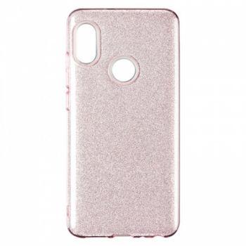 Чехол с блесками Glitter Silicon от Remax для Huawei P Smart Plus/Nova 3i розовый