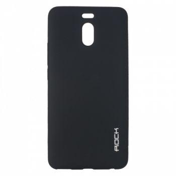 Плотный силиконовый чехол Matte от Rock для Meizu M6 Note черный
