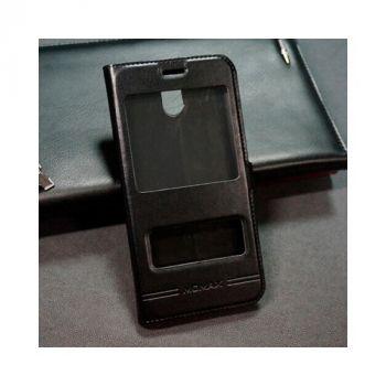 Чехол книжка из кожи Smart для Samsung Galaxy J730 2017 черный