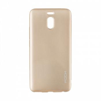 Плотный силиконовый чехол Matte от Rock для Meizu M6 Note золото