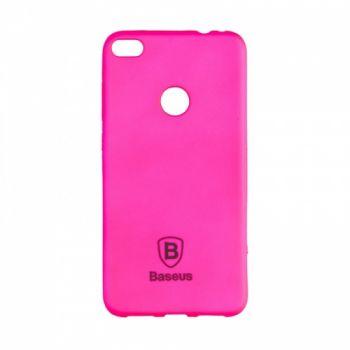 Яркий силиконовый чехол Colorit от Baseus для Huawei Y7 розовый