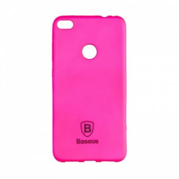 Яркий силиконовый чехол Colorit от Baseus для Huawei P8 Lite розовый