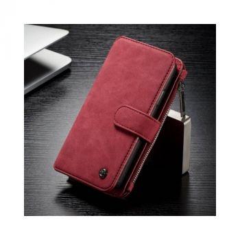 Красный чехол-бумажник для iPhone X Retro style