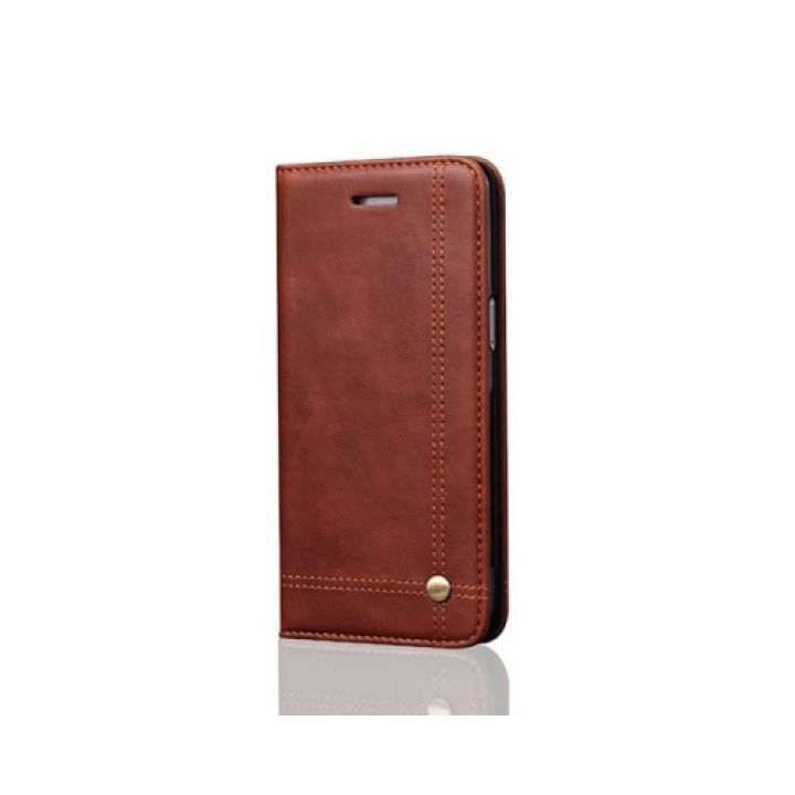 Коричневый кожаный чехол книжка Elegant для Samsung Galaxy S8 Plus