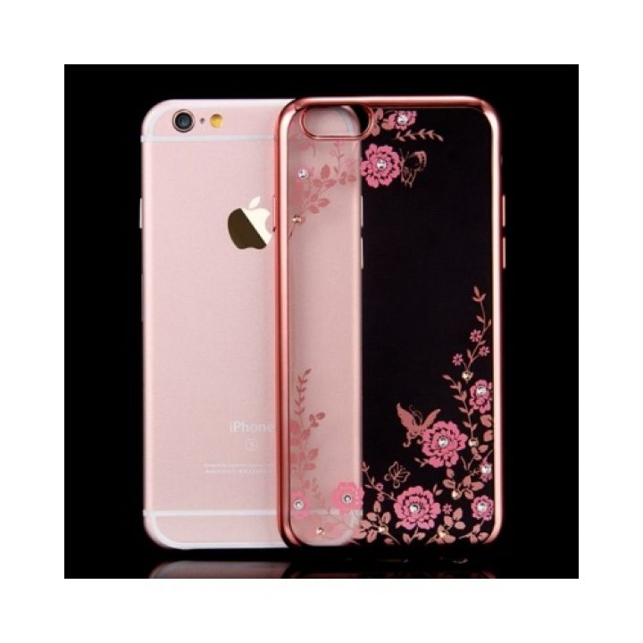 Чехол-накладка Flora Diamond для iPhone 6 Plus pink