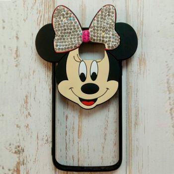 3D чехол игрушка Mickey для Samsung S7 Edge silver