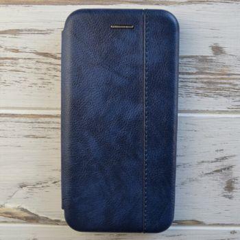 Синий кожаный чехол книжка Lux Blue для iPhone 7 Plus