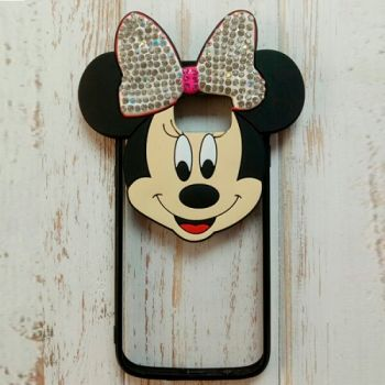 3D чехол игрушка Mickey для Samsung Galaxy S7 silver