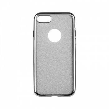 Чехол с блесками Glitter Silicon от Remax для iPhone 4 серебристый