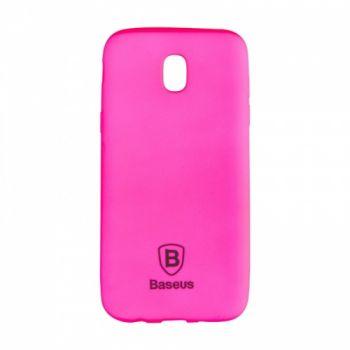Яркий силиконовый чехол Colorit от Baseus для Samsung J530 (J5-2017) розовый