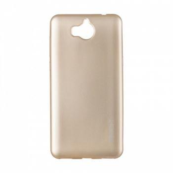 Плотный силиконовый чехол Matte от Rock для Huawei Y6 II золото