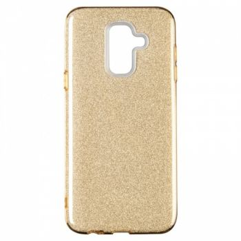 Чехол с блесками Glitter Silicon от Remax для Samsung J810 (J8-2018) золотой