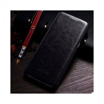 Элегантный черный чехол из кожи Luxury Case для Samsung Galaxy S8 Plus
