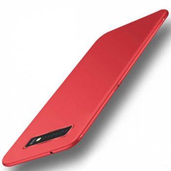 Тонкий силиконовый чехол накладка Elastic для Samsung Galaxy S10 красный