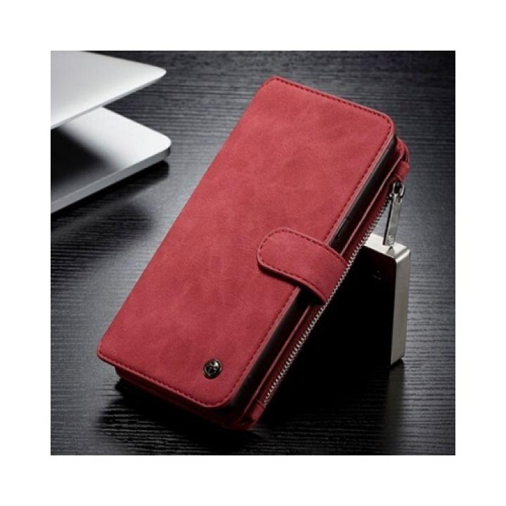 Красный чехол бумажник Luxury Effect для Samsung Galaxy Note 8